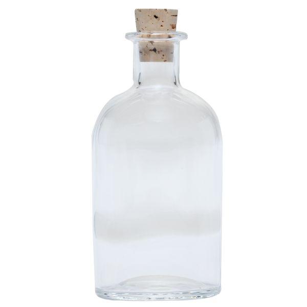 Boston Round Glass Bottle With Cork