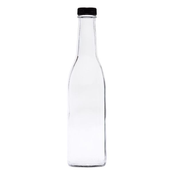 Round Woozy Glass Bottle