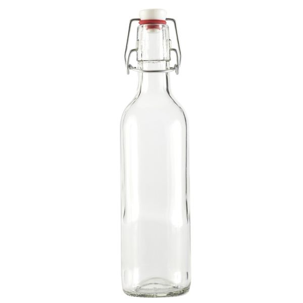 Clear Swingtop Glass Bottle