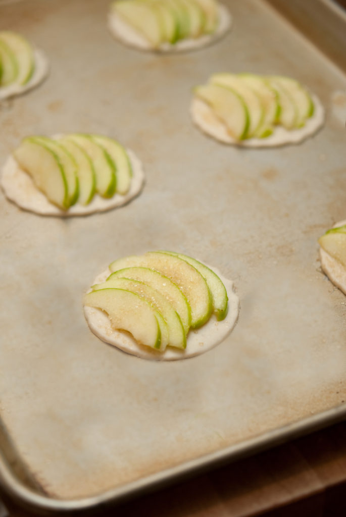 apple tart on pan