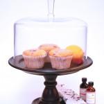 Low-fat Raspberry Lemon Muffins