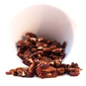 Candied Pecans with Dried Cranberries