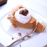 Pumpkin Pie with Bourbon Whipped Cream