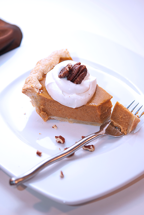 Pumpkin Pie with Bourbon Whipped Cream Recipe | Beanilla