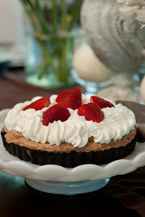 chocolate cream tart