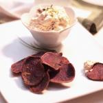 Creamy Saffron Bacon Dip with Crispy Sweet Potatoes