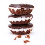 Peppermint Brownie Tarts