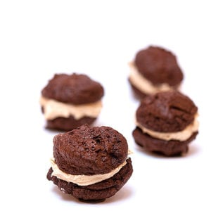 Peanut Butter Brownie Whoopie Pies