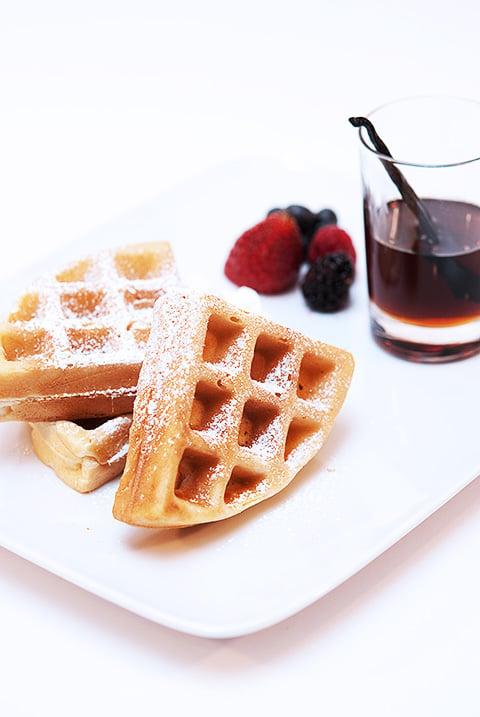 vanilla almond waffles