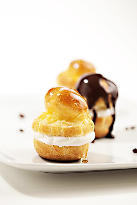Profiteroles with Vanilla Almond Cream | Beanilla