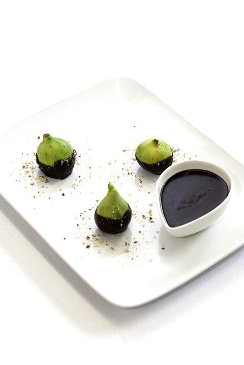 Green fig hazelnut dark chocolate
