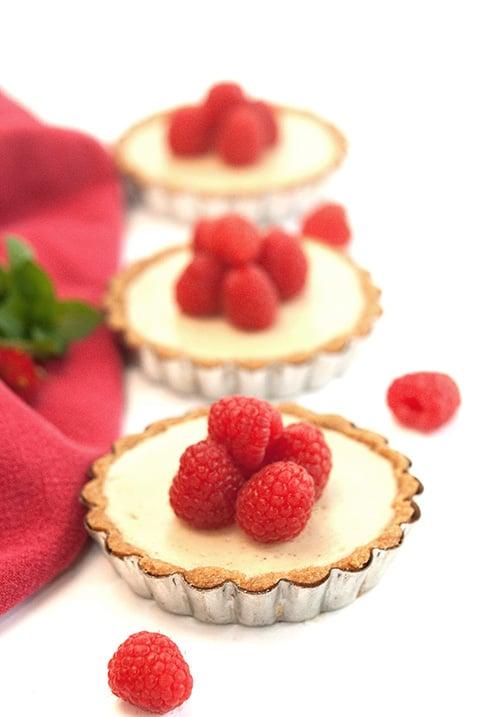 Raspberry Amaretto Cheesecake Tarts | Beanilla
