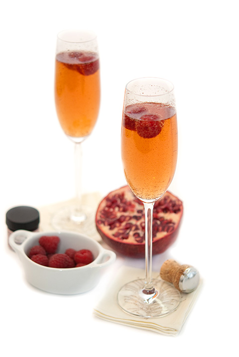 vanilla pomegranate cocktail