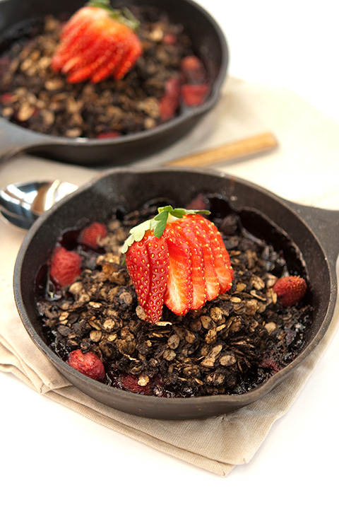 chocolate berry crisp recipe