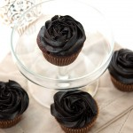 Vanilla Cream Filled Chocolate Cupcakes