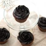 Vanilla Cream Filled Chocolate Cupcakes