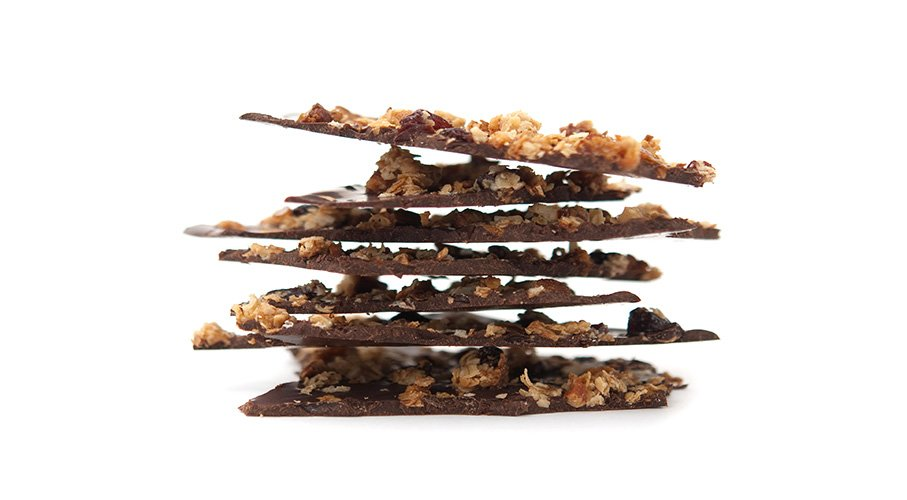chocolate cherry granola bark
