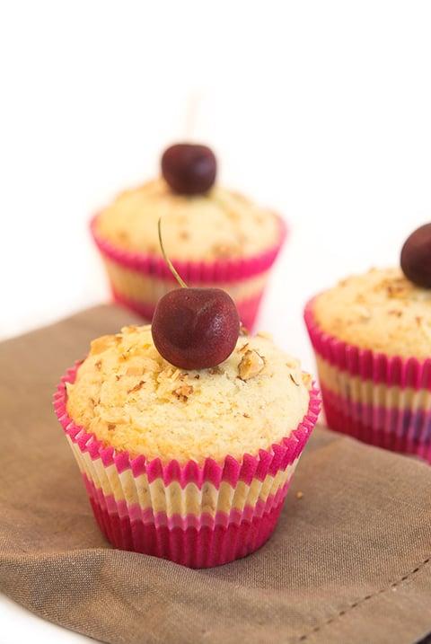 almond cherry muffins