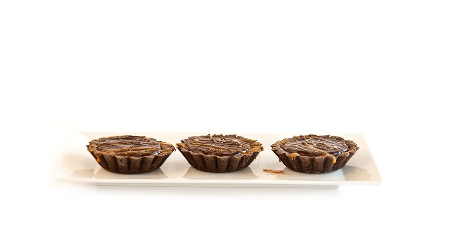 chocolate caramel tarts 1