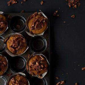 Pumpkin Pecan Pie Muffins