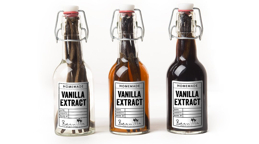 homemade vanilla extract labels printable free beanilla