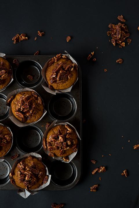 Pecan Pie Pumpkin Muffins