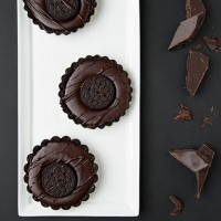 Chocolate Cookie Tart With Ganache Filling