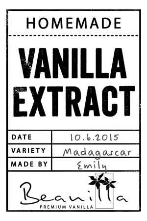 Homemade Vanilla Extract Labels