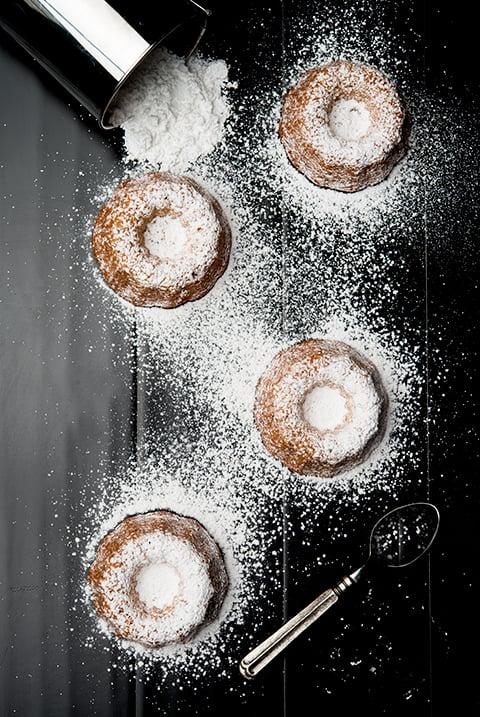 Almond Bundt Cake Donuts