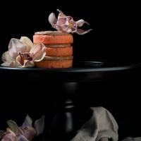 Mini Chocolate Strawberry Layer Cake
