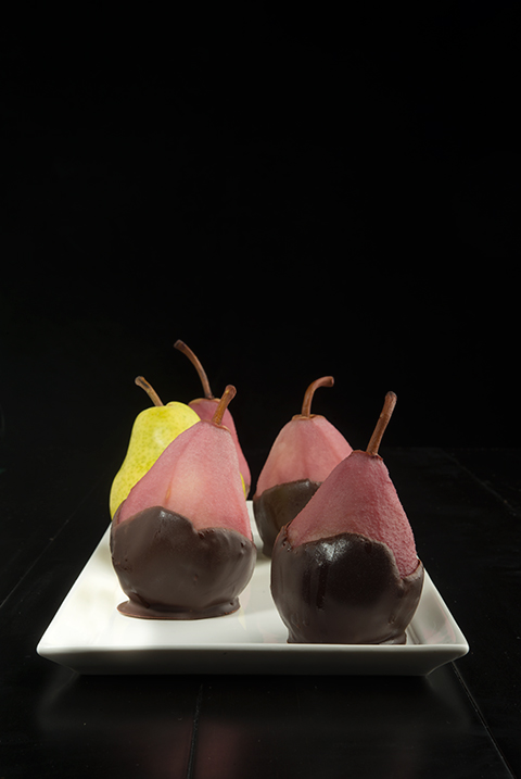 Red Wine Vanilla Poached Pears