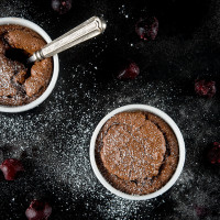 Chocolate Cherry Soufflé
