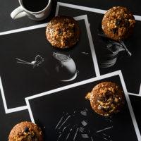 Oatmeal Raisin Bran Muffins