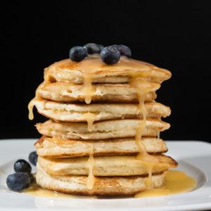 Blueberry Lemon Curd Pancakes