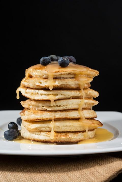 Homemade Blueberry Pancakes