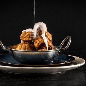Cinnamon Sugar Pretzel Bites with Vanilla Frosting