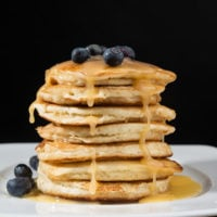 Blueberry Lemon Curd Pancakes