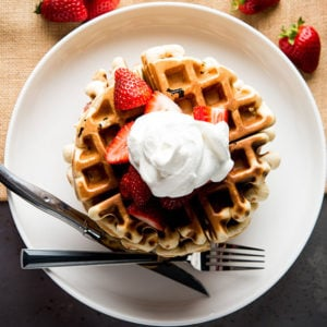 Strawberry Milkshake Waffles