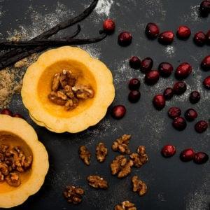 Roasted Vanilla Acorn Squash