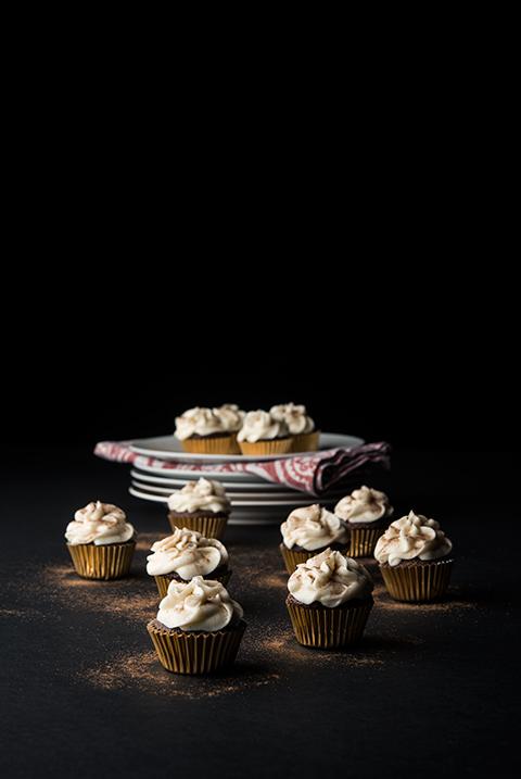 Chocolate Eggnog Cupcakes
